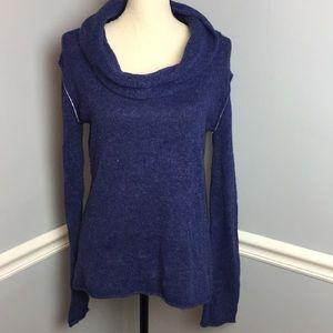 "Converse Blue ""Worn In"" Cowl Neck Sweater (L)"